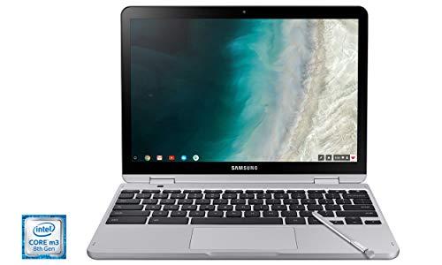 Samsung Chromebook Plus V2, 2-in-1, Intel Core m3, 4GB RAM, 64GB eMMC, 13MP Camera, Chrome OS, 12.2', 16:10 Aspect Ratio, Light Titan (XE520QAB-K02US)