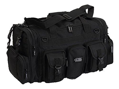 NPUSA Mens Large 22' Inch Black Duffel Duffle Military Molle Tactical Gear Shoulder Strap Travel Bag