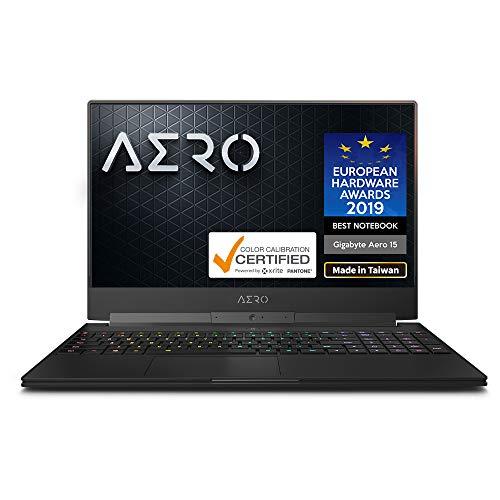 Gigabyte AERO 15 Classic-WA-U74ADP 15' Thin Bezel UHD Auo IPS Adobe RGB 100%, i7-9750H, NVIDIA GeForce RTX 2060, Samsung 16GB RAM, M.2 PCIe 512GB Intel 760P SSD, Win10 Pro, Ultra Slim Gaming Laptop