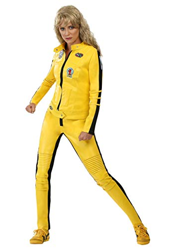 Beatrix Kiddo Costume Kill Bill Costumes for Women Yellow Motorcycle Jacket Costume Medium