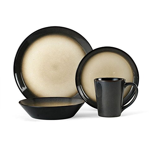 Pfaltzgraff Aria Gray 16-Piece Stoneware Dinnerware Set, Service for 4