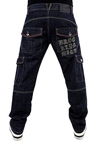 Brooklyn Mint Grip Cargo Relax Fit Demin Jeans