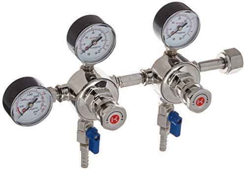Kegco CO2 Regulator, 2 Keg / 2 Pressure