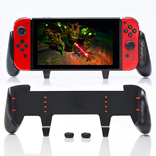 Satisfye - ZenGrip Pro, a Switch Grip Compatible with Nintendo Switch - Comfortable & Ergonomic Grip, Joy Con & Switch Control. #1 Switch Accessories Designed for Gamers. BONUS: 2 Thumbsticks