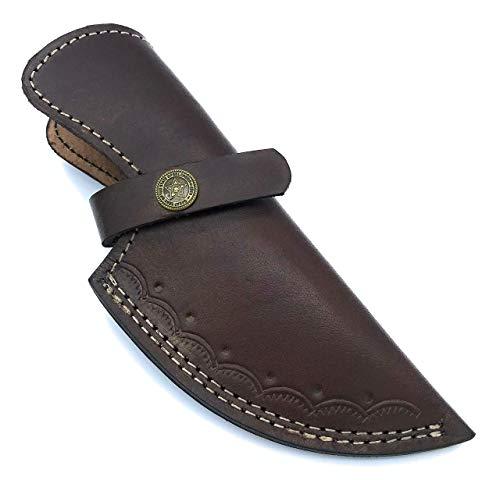 7' custom handmade leather sheath for 4' cutting blade knife