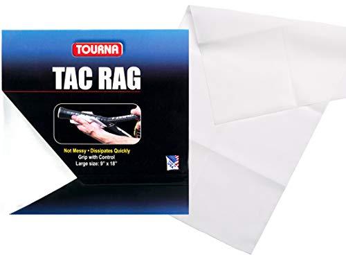 Unique Tourna Tac Rag - Tacky Cloth Grip Enhancer for all Sports, White, X-Large (TRAG-WXL)