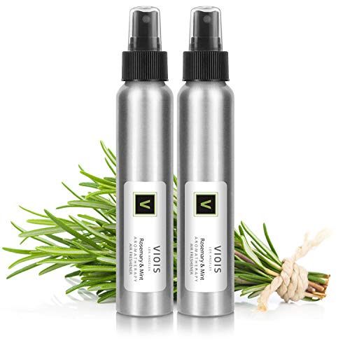 VIOIS, Rosemary & Mint Aromatherapy Room Spray for Pillow, Linen, Car, Bedroom, Bathroom & Office. Pure Essential Oil Blend. Handmade in The USA (2 Pack)