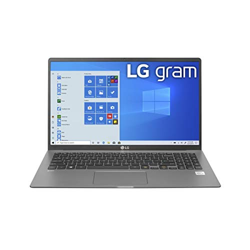 LG Gram Laptop - 15.6' Full HD IPS , Intel 10th Gen Core i5-1035G7 CPU, 8GB RAM, 256GB M.2 MVMe SSD, 18.5 Hours Battery, Thunderbolt 3 - 15Z90N (2020)