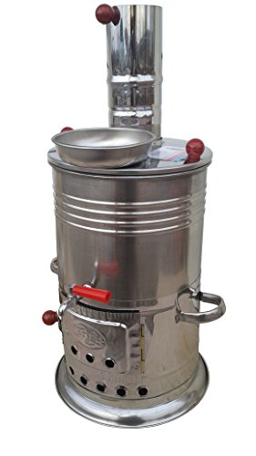 Boat Camping Tent Caravan Turkish Tea Kettle 4 Ltr / 150 oz Hot Water Heater Wood Stove & Camping Hiking Hunting BBQ & eco-friendly
