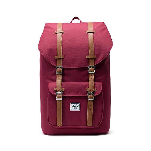 Herschel Little America Laptop Backpack, Windsor Wine/Tan Synthetic Leather, Classic 25.0L