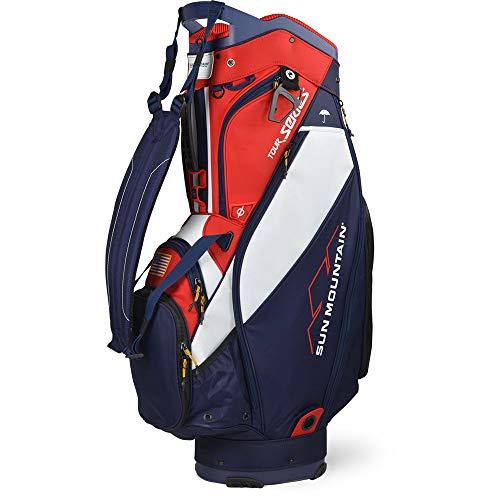 Sun Mountain Golf 2020 Tour Series Cart Bag (Navy-White-RED)