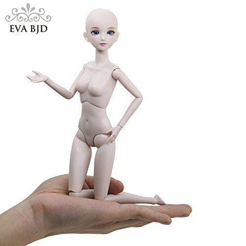 EVA BJD Customized Doll 1/6 SD Doll 11 inch Ball Jointed Dolls BJD Doll + Basic Makeup for DIY Dolls