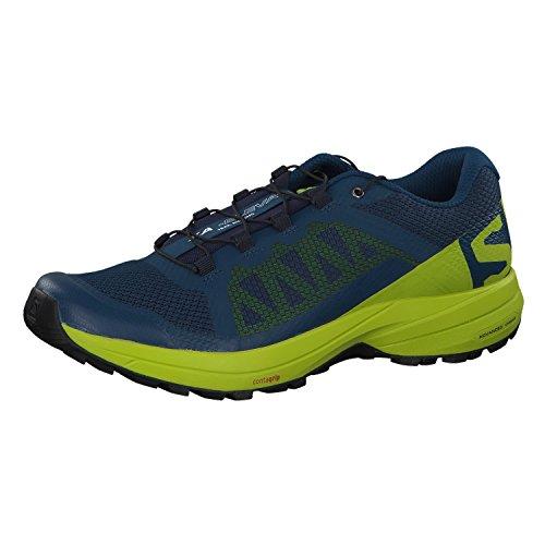 Salomon Men's XA Elevate Trail Running Shoes, Poseidon/Lime Green/Black, 11.5
