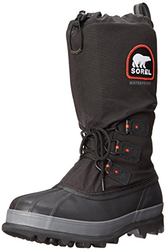 Sorel Men's Bear Extreme Snow Boot,Black/Red Quartz,9 M US