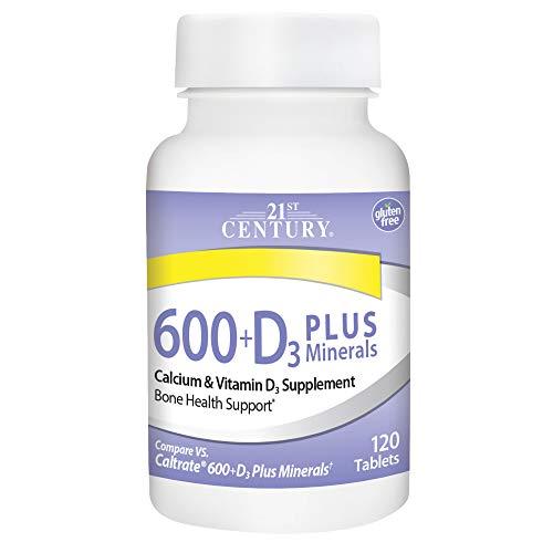 21st Century Calcium 600 Plus D Plus Minerals Caplets, 120Count (27498)