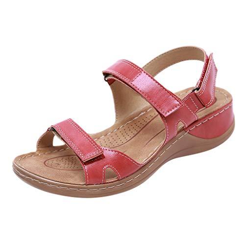 Ohbiger Women's Comfortable Flat Walking Sandals with Arch Support, Flip Flops Slides Shoes