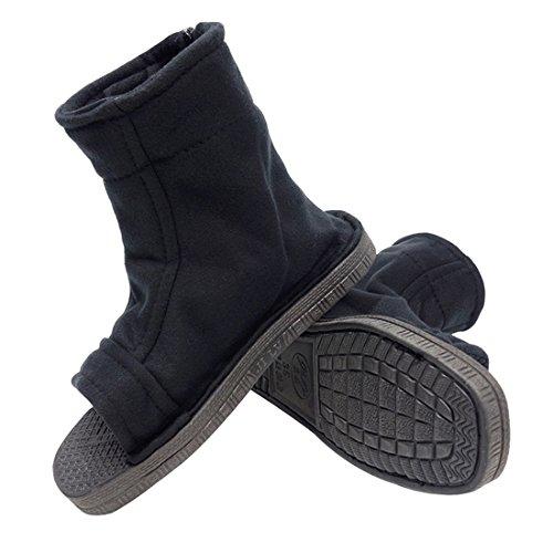 DAZCOS Unisex Black Shippuden Ninja Shoes [US 5 - US 11] [ Adult/Child ] (9.5 M US Women/8 M US Men)