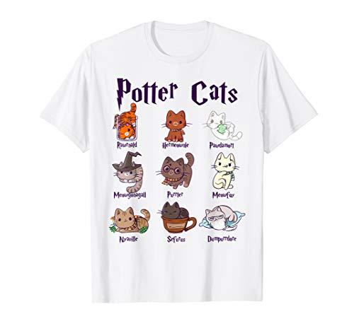 Potter Cats Cute Harry Pawter Kitten gift for Her T-Shirt
