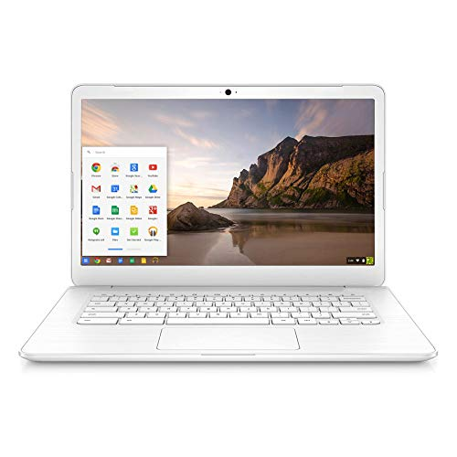 Used Chromebook in Good Condition 14-SMB 14 inch Lightweight Laptop Computer for Business or Education 14 inches with Intel Celeron N2955U, 4GB RAM 16GB eMMC SSD Chrome OS Online Class Ready - White