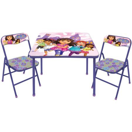 Dora the Explorer Nickelodeon Dora and Friends, Table and Chair Set, 3 Piece