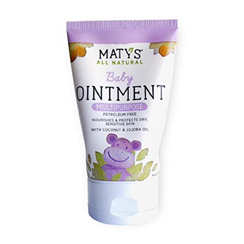 Maty's All Natural Multipurpose Baby Ointment - Petroleum & Fragrance Free - Made with Coconut & Jojoba Oils - 3.75 oz.