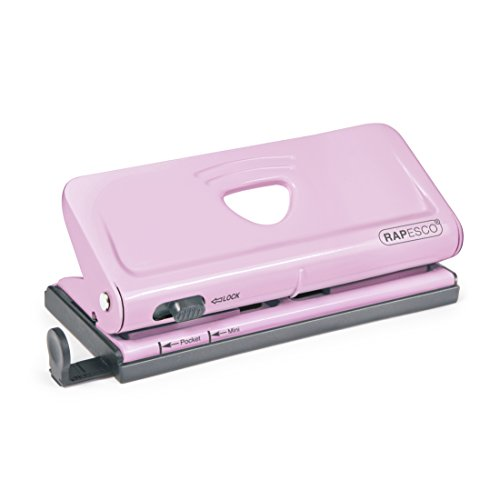 Rapesco Adjustable 6-Hole punch for Planners and 6-Ring Binders - Pink