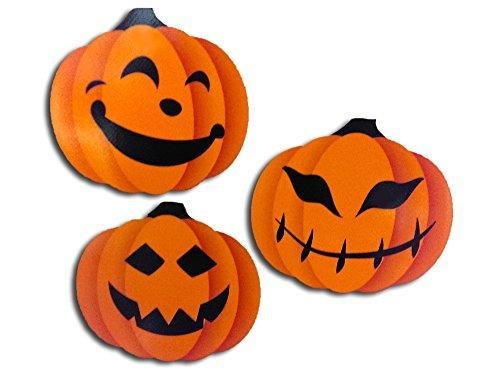 COOLHUBCAPS Reflective Pumpkin Car Magnets