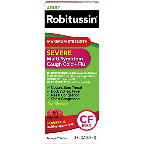 Robitussin Severe CF Maximum Strength Cough, Cold, & Flu Medicine (8 fl. oz. Bottle)