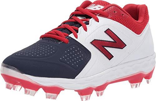 New Balance Women's Fresh Foam Velo V1 TPU Molded Softball Shoe, Red/White/Blue, 6.5 M US