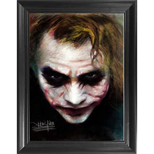 Joker Heath Ledger 3D Poster Wall Art Decor Framed Print   14.5x18.5   Lenticular Posters & Pictures   Memorabilia Gifts for Guys & Girls Bedroom   The Dark Knight Batman Movie, DC Comic Book Fan Art