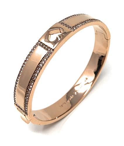 Kate Spade New York Spot the Spade Hinged Bangle Bracelet Blush Rose Gold