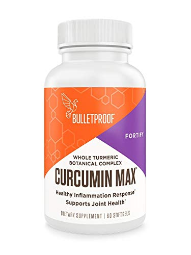 Bulletproof Curcumin Max, Turmeric Complex with Ginger, Boswellia, Stephania Suspended in Brain Octane MCT Oil, 60 Softgels