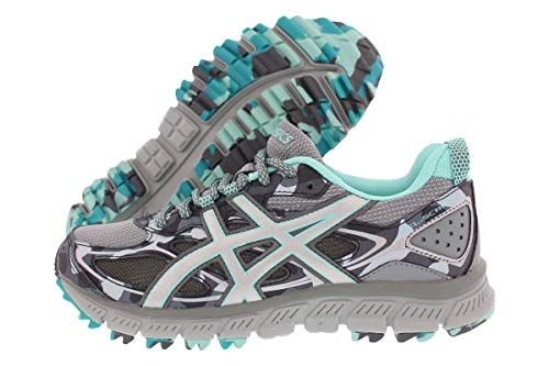ASICS Women's Gel-Scram 3 Running Shoes Stone Grey/Silver/Aruba Blue 7 B(M) US