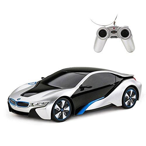 RASTAR BMW i8 RC Car BMW i8 1/24 Remote Control Car, BMW Toy Car - Silver