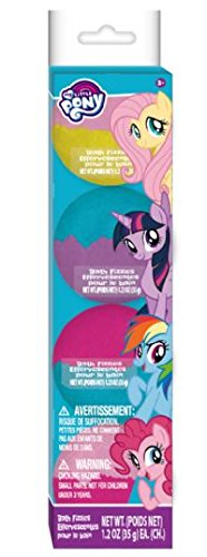 Townley Girl My Little Pony Bath Bomb Set for Girls with Surprise Rings, Ages 3+ - 4 Pack