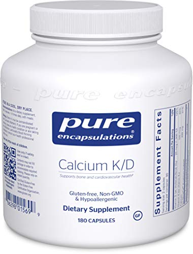 Pure Encapsulations - Calcium K/D - Hypoallergenic, High Elemental Calcium Supplement with Vitamins K and D - 180 Capsules