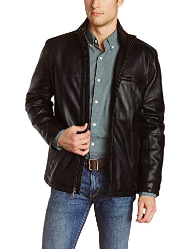 Laverapelle Men's Genuine Lambskin Leather Jacket (Brown, Large, Color Cotton Lining)-1501135