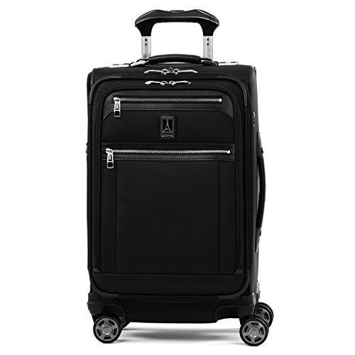 Travelpro Platinum Elite Softside Expandable Spinner Wheel Luggage, Shadow Black, Carry-On 21-Inch