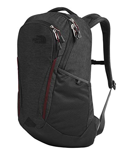 The North Face Women's Vault Backpack, Asphalt Grey Light Heather/Deep Garnet Red, One Size