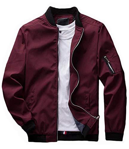 Banana Bucket Men's Jacket Slim Fit Lightweight Softshell Flight Bomber Jacket Coat