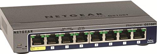 NETGEAR GS108T-200NAS 8-Port Gigabit Smart Managed Pro Switch, L2, ProSAFE Lifetime Protection (GS108Tv2),Black,Version 2