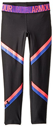 Under Armour Girls Armour Heatgear Ankle Crop, Black (001), Youth Small