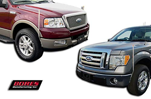 Bores Guide 731512 Stainless Steel Bumper Guide for 2004-2006 Ford Pick Up Fullsize F-150