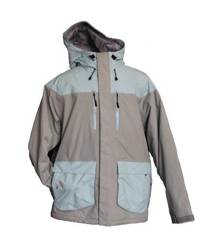 Flylow Men's Ba Puffy Jacket, Quarry/Aquamarine, Small