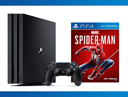 Playstation 4 Pro 1TB Console + Marvel's Spider-Man + NBA 2K17 Bundle ( 3 - Items )