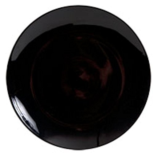 Royal Norfolk Classic Stoneware Dinner Plate, Black, 10½' W