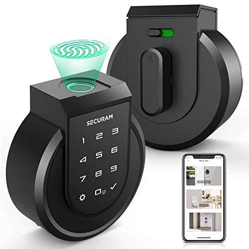 SECURAM Touch Smart Lock Deadbolt, Keyless Entry Door Lock with Fingerprint, Touchpad, High-Security Keys, Remote Control, Voice Control via Alexa, Easy Installation, Auto-relock and Alarm