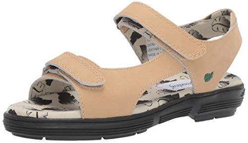 Golfstream Women's Two Strap Sandal Sport, Textured Beige, 8 M US