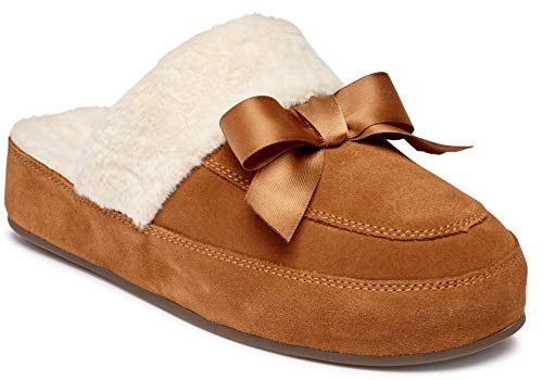 Vionic Women's Sublime Nessie Mule Slipper - Ladies Backless House Slippers with Concealed Orthotic Arch Support Toffee 6 Medium US