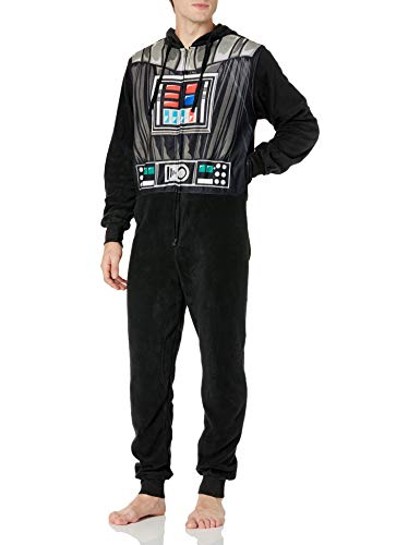 Star Wars Men's Darth Vader Graphic Union Suit, Black, Medium
